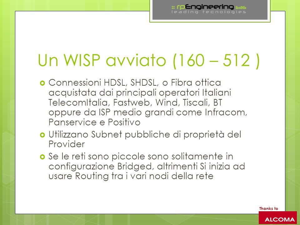 Un WISP avviato (160 – 512 )