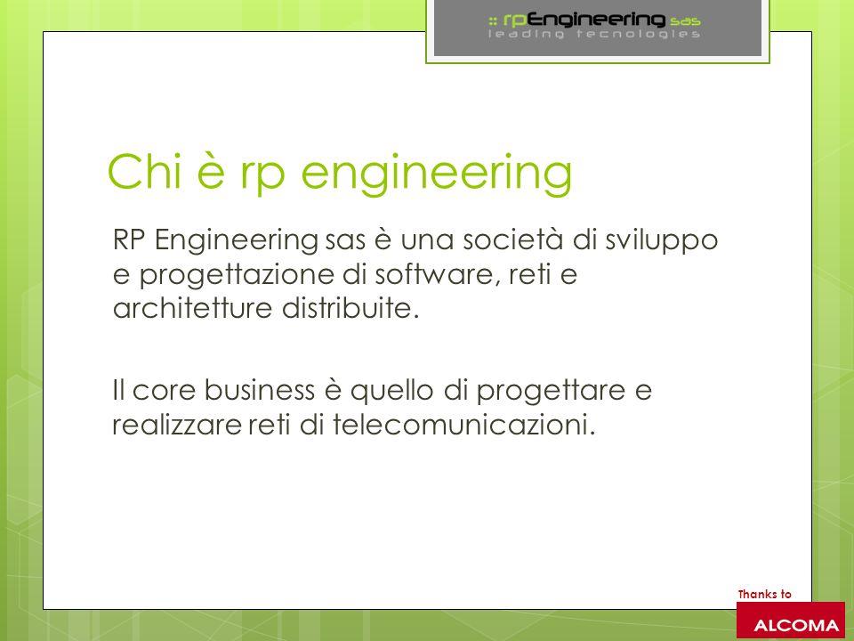 Chi è rp engineering RP Engineering sas è una società di sviluppo e progettazione di software, reti e architetture distribuite.