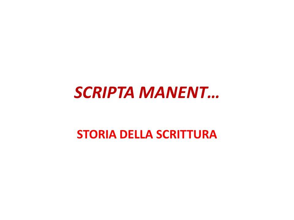 STORIA DELLA SCRITTURA