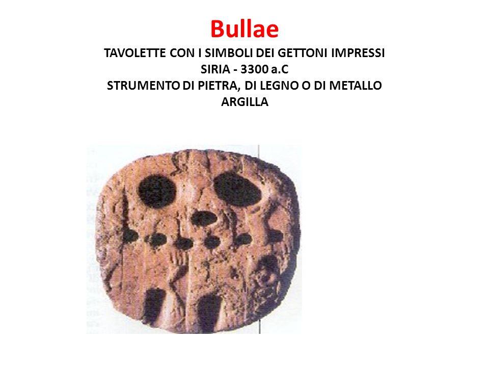 Bullae TAVOLETTE CON I SIMBOLI DEI GETTONI IMPRESSI SIRIA - 3300 a