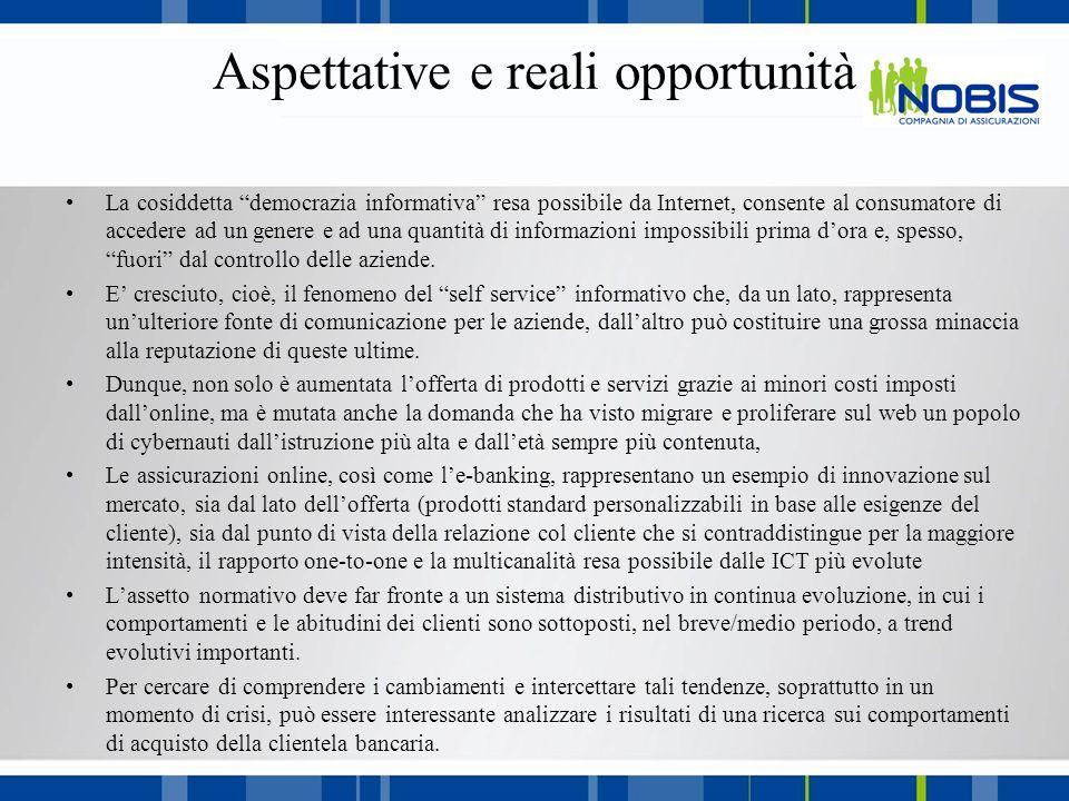 Aspettative e reali opportunità