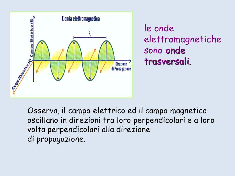 le onde elettromagnetiche sono onde trasversali.