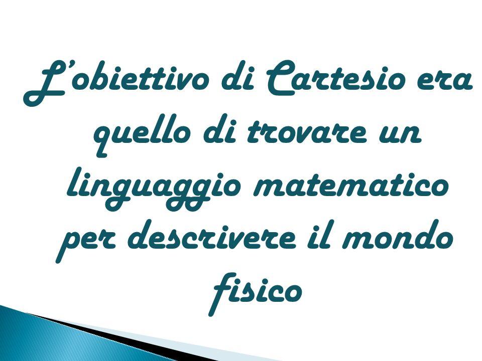 L'obiettivo di Cartesio era quello di trovare un linguaggio matematico per descrivere il mondo fisico