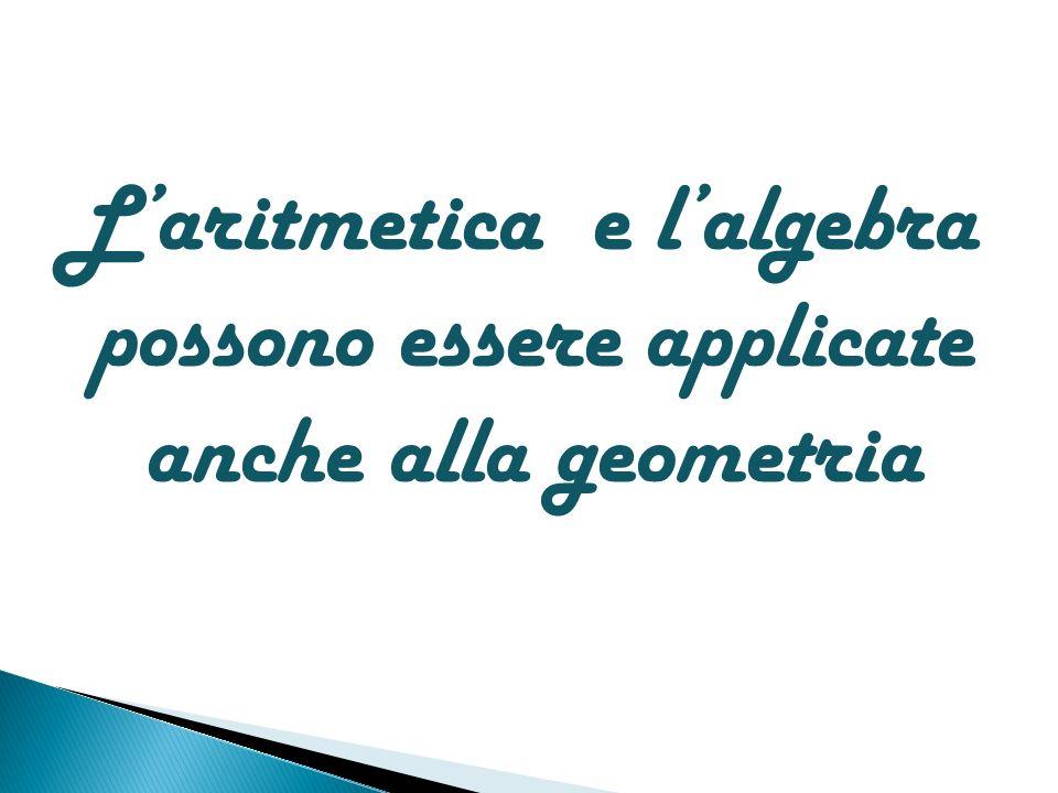 L'aritmetica e l'algebra possono essere applicate anche alla geometria