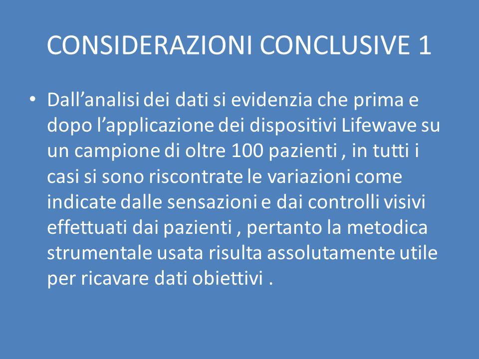 CONSIDERAZIONI CONCLUSIVE 1