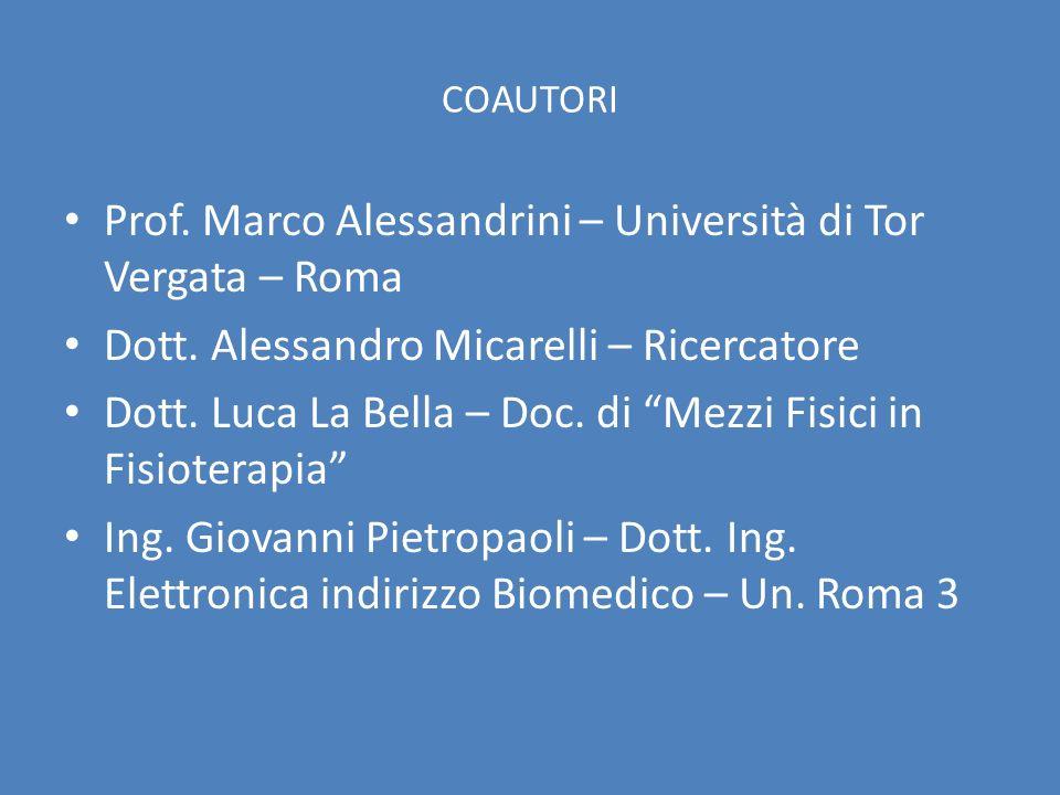 Prof. Marco Alessandrini – Università di Tor Vergata – Roma