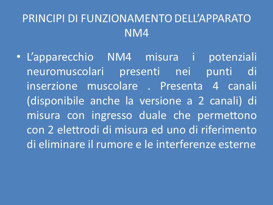 PRINCIPI DI FUNZIONAMENTO DELL'APPARATO NM4