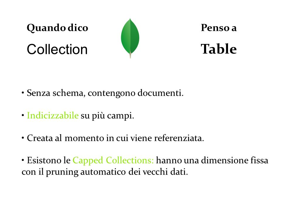 Table Collection Quando dico Penso a