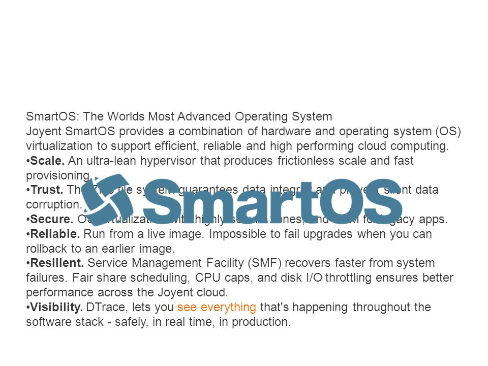 SmartOS: The Worlds Most Advanced Operating System
