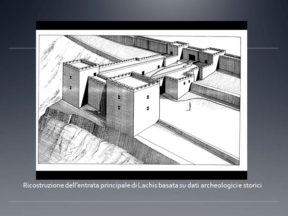 Ricostruzione dell'entrata principale di Lachis basata su dati archeologici e storici