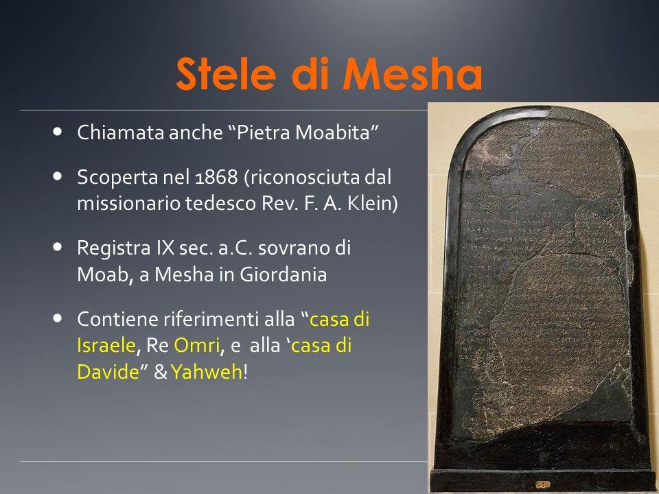 Stele di Mesha Chiamata anche Pietra Moabita