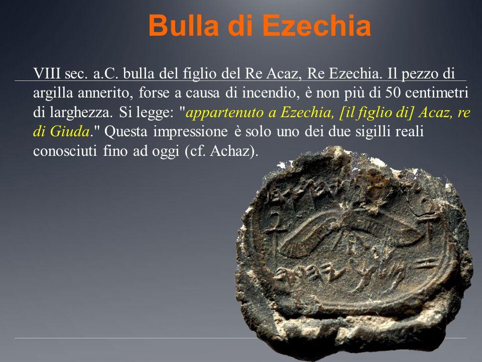 Bulla di Ezechia