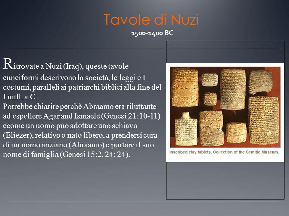 Tavole di Nuzi 1500-1400 BC