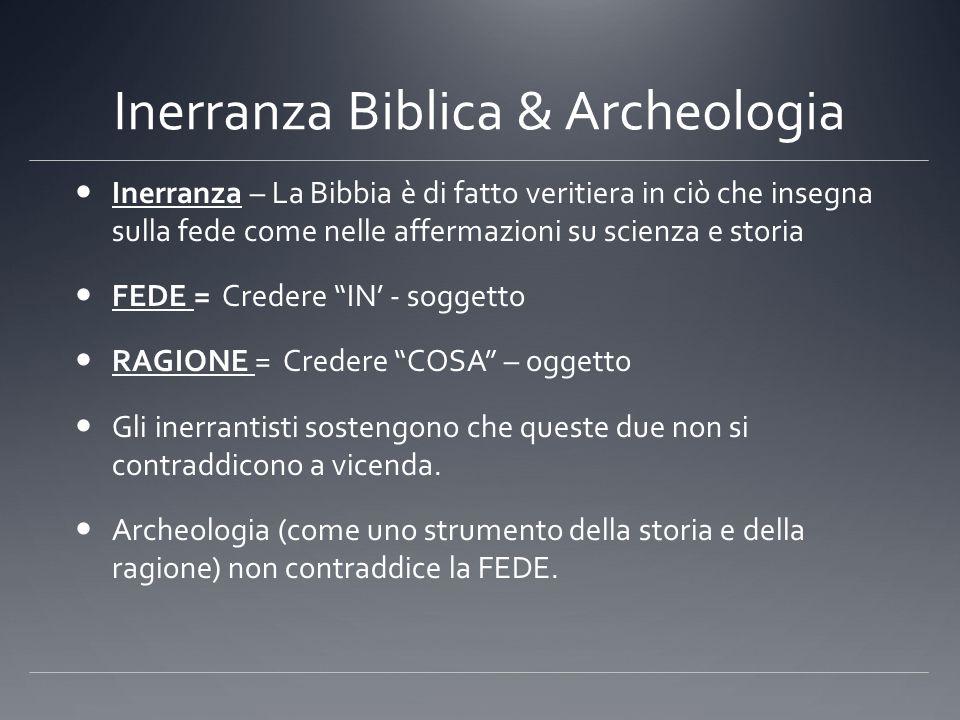 Inerranza Biblica & Archeologia