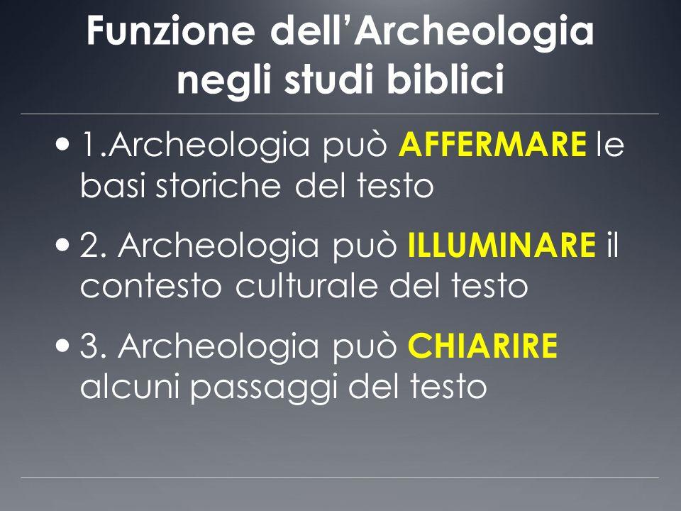 Funzione dell'Archeologia negli studi biblici