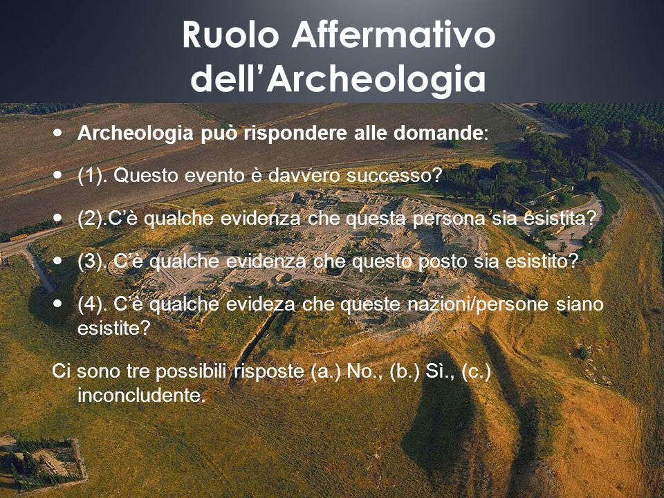 Ruolo Affermativo dell'Archeologia