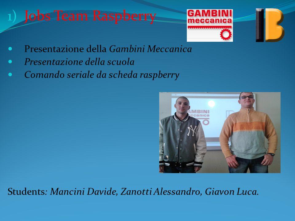 Jobs Team Raspberry Presentazione della Gambini Meccanica