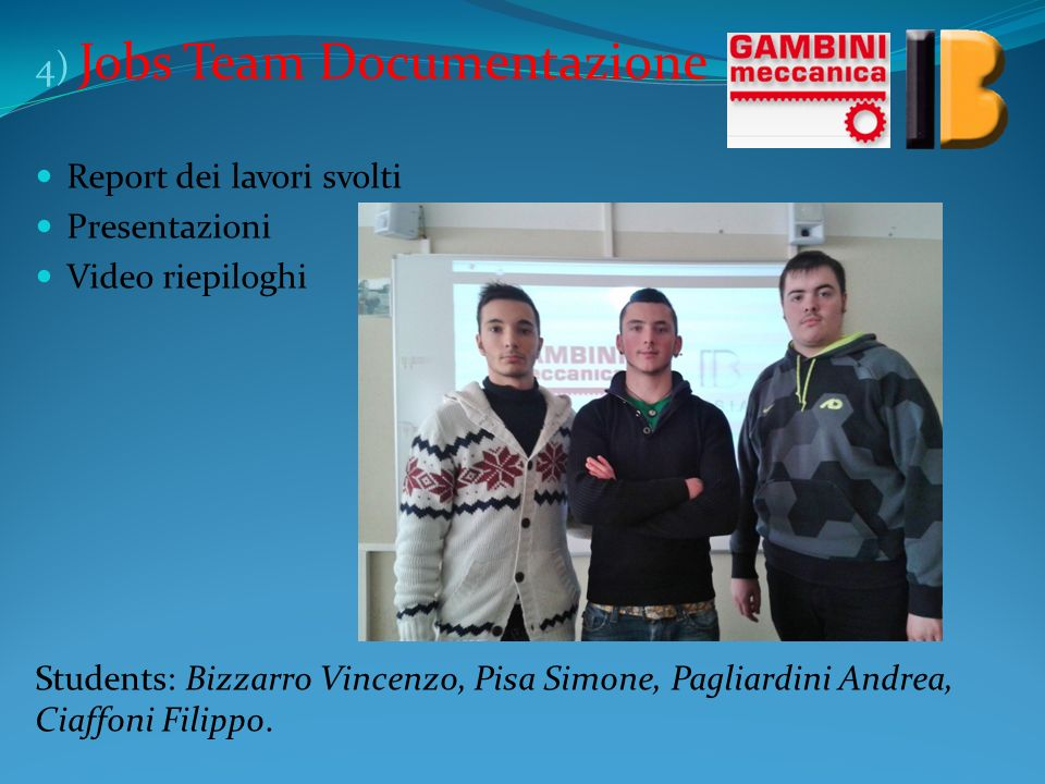 4) Jobs Team Documentazione