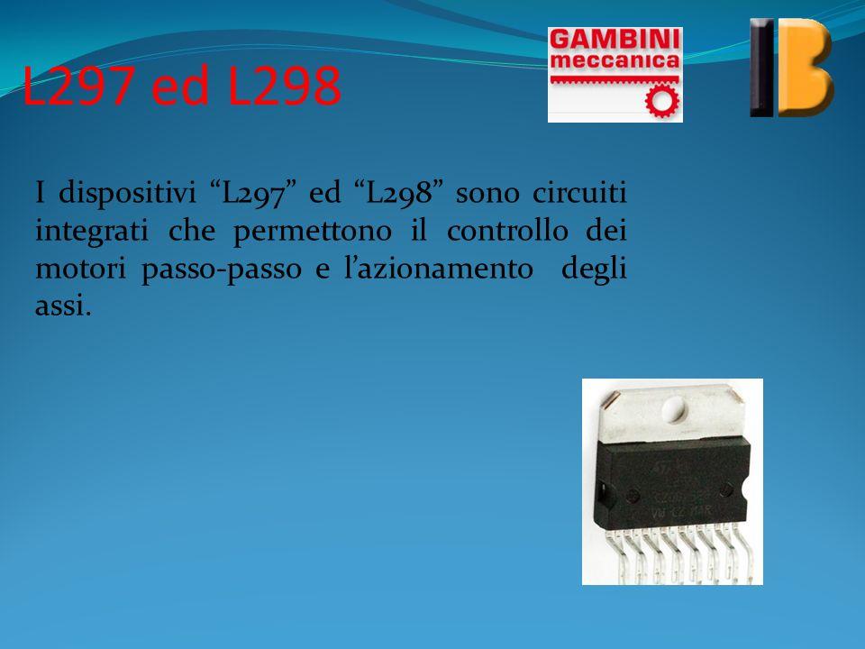 L297 ed L298 I dispositivi L297 ed L298 sono circuiti integrati che permettono il controllo dei motori passo-passo e l'azionamento degli assi.