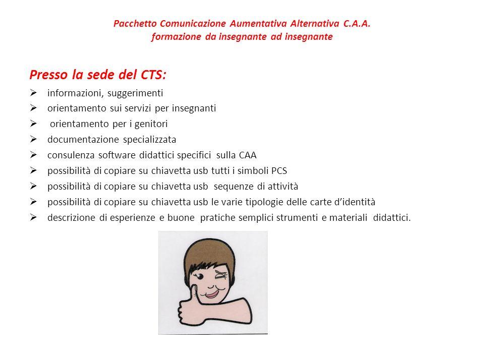 Pacchetto Comunicazione Aumentativa Alternativa C. A. A