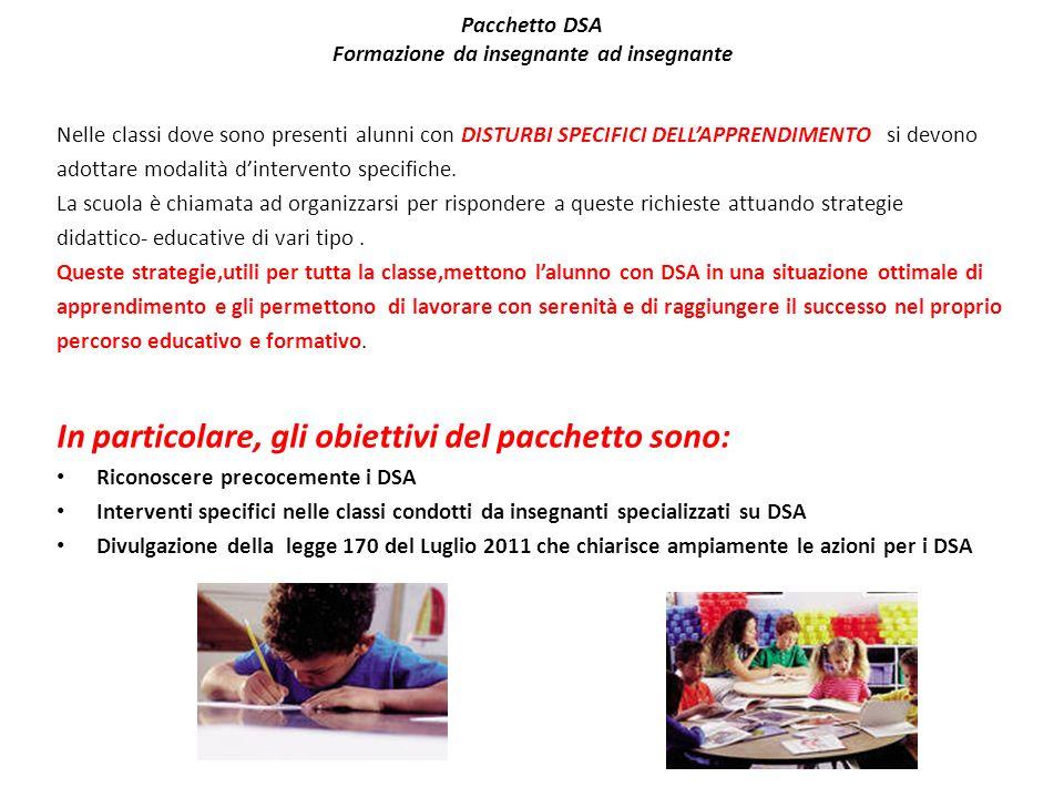 Pacchetto DSA Formazione da insegnante ad insegnante