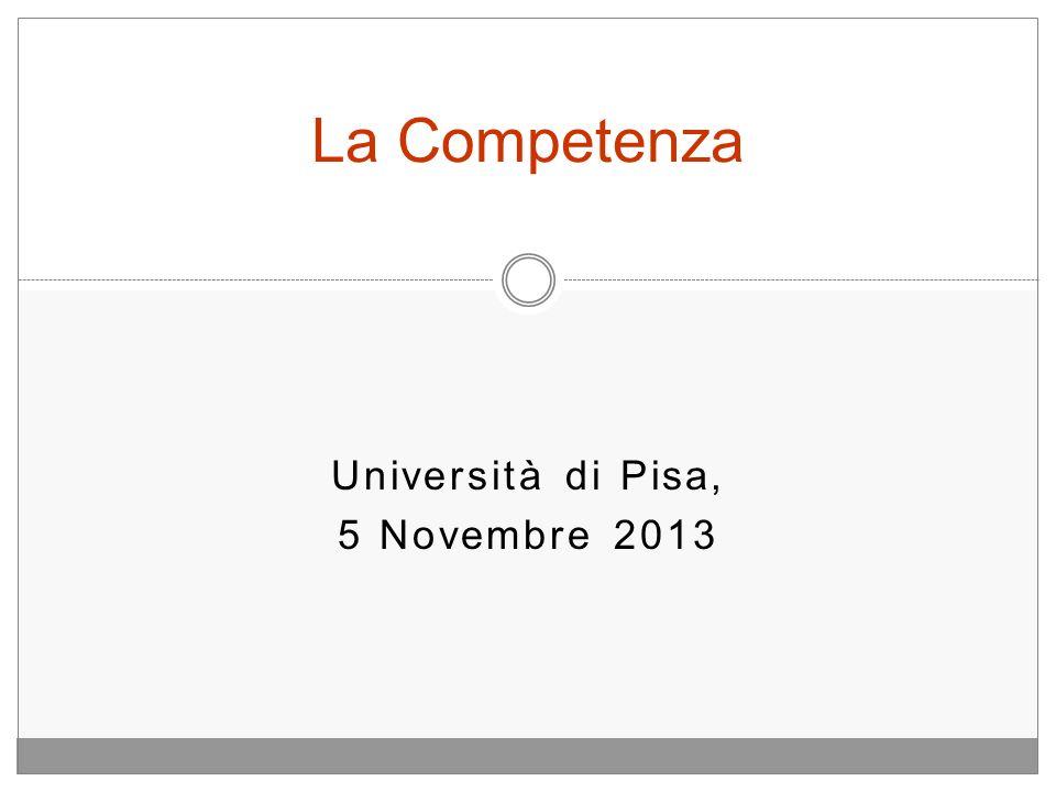 Università di Pisa, 5 Novembre 2013