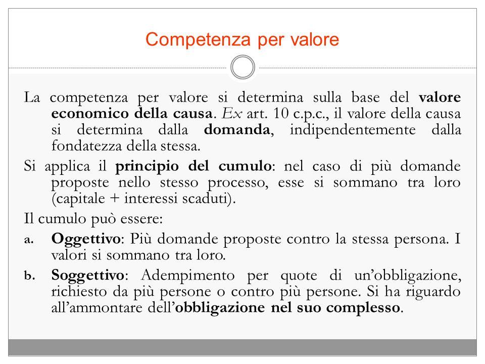 Competenza per valore