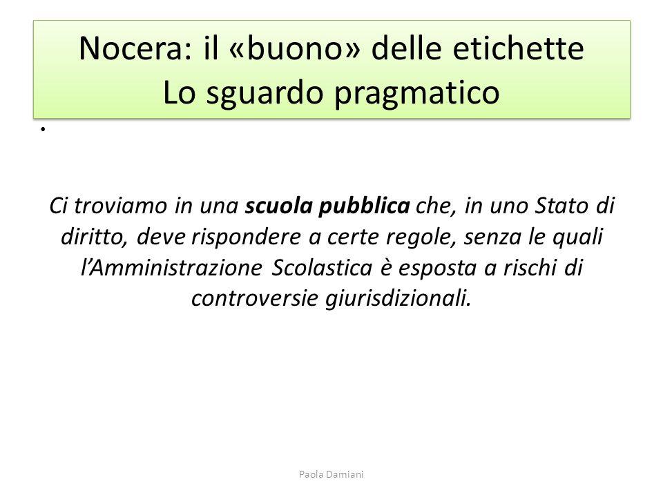 Nocera: il «buono» delle etichette Lo sguardo pragmatico