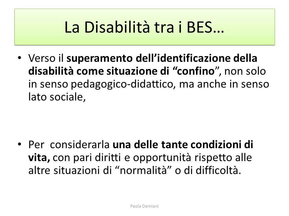 La Disabilità tra i BES…