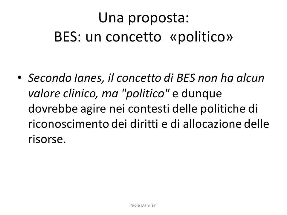 Una proposta: BES: un concetto «politico»