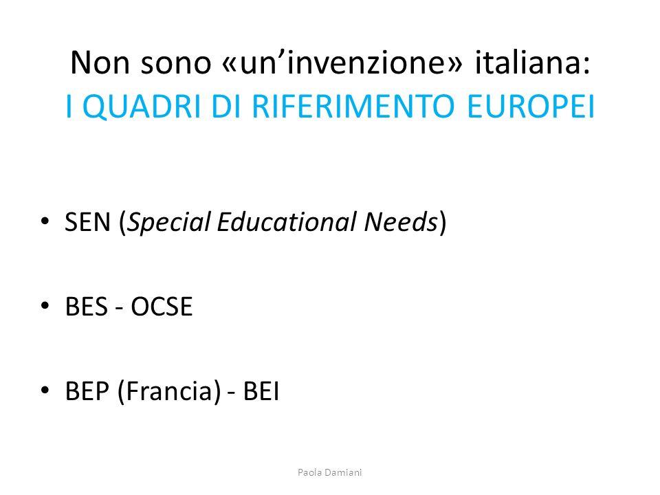 Non sono «un'invenzione» italiana: I QUADRI DI RIFERIMENTO EUROPEI