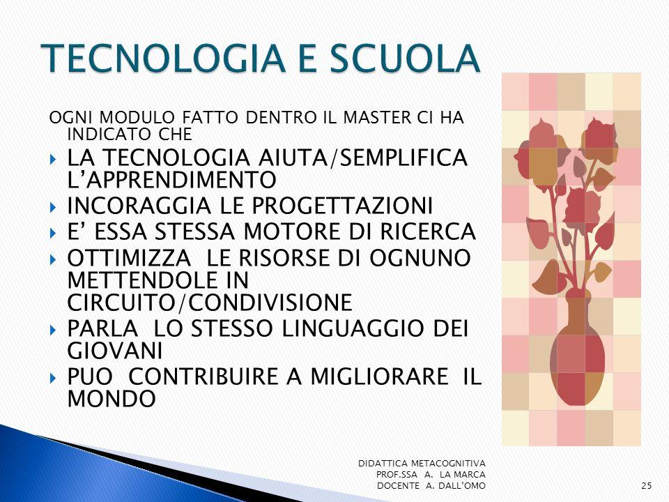 TECNOLOGIA E SCUOLA LA TECNOLOGIA AIUTA/SEMPLIFICA L'APPRENDIMENTO