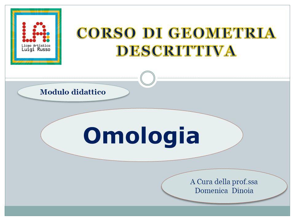 corso DI GEOMETRIA DESCRITTIVA