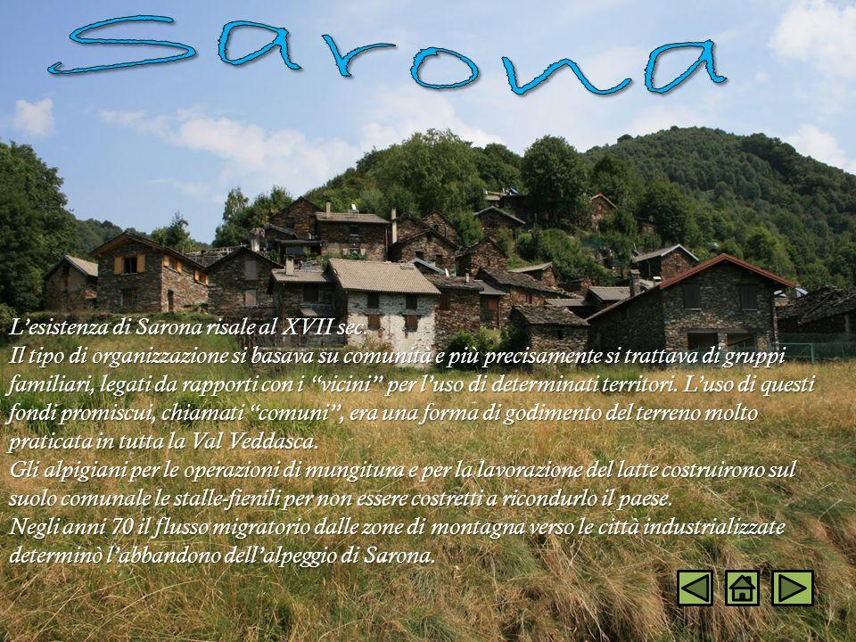 Sarona L'esistenza di Sarona risale al XVII sec.