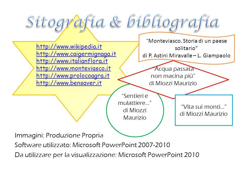 Sitografia & bibliografia