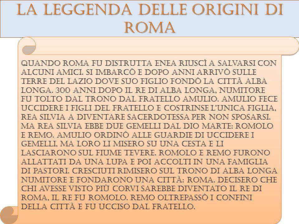 La leggenda delle origini di roma