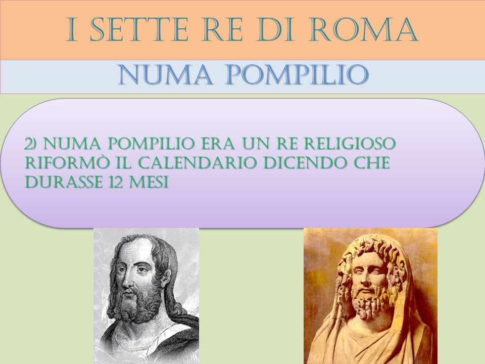 I sette re di roma Numa pompilio