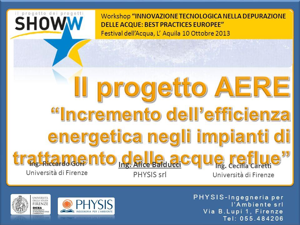 Workshop INNOVAZIONE TECNOLOGICA NELLA DEPURAZIONE DELLE ACQUE: BEST PRACTICES EUROPEE
