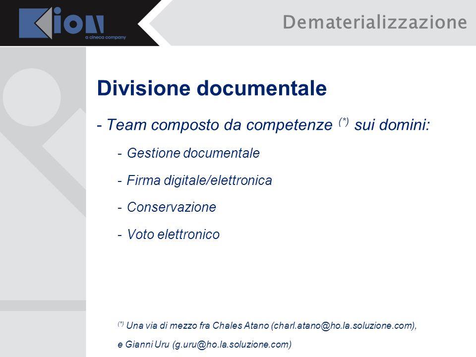 Divisione documentale