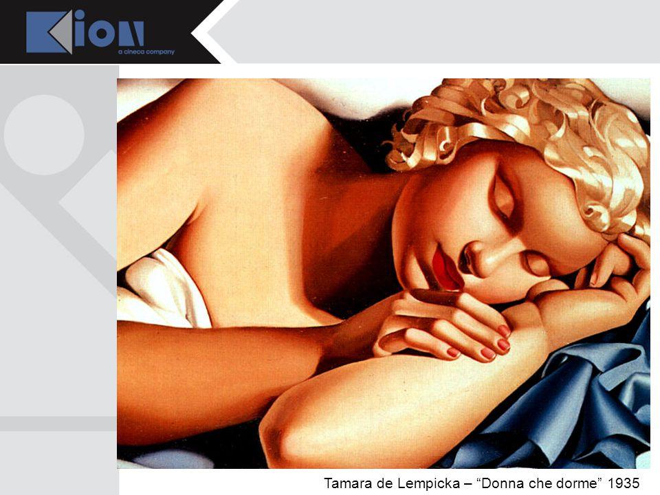 Tamara de Lempicka – Donna che dorme 1935