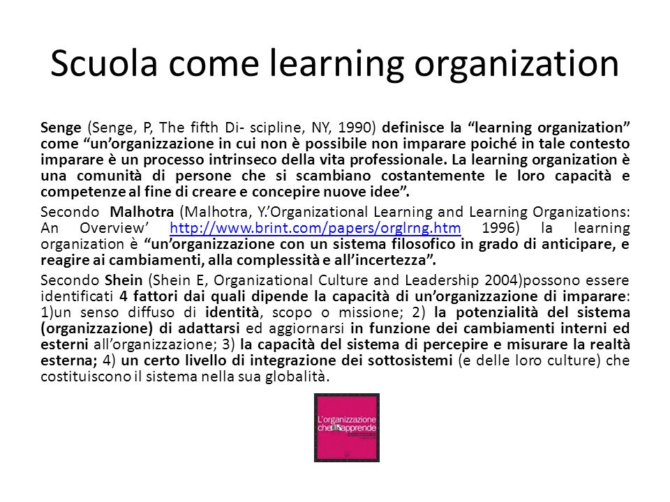 Scuola come learning organization