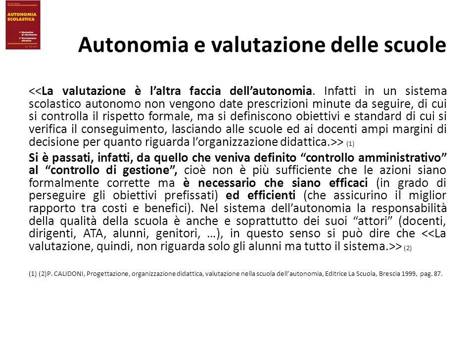 Autonomia e valutazione delle scuole