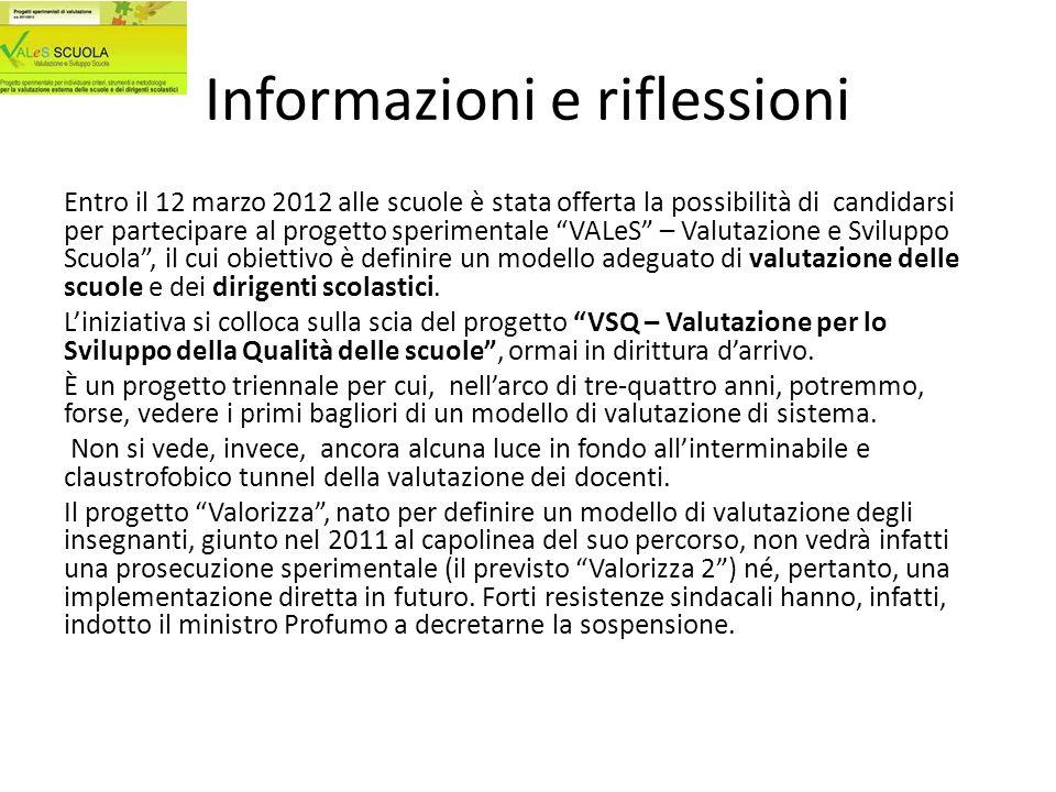 Informazioni e riflessioni