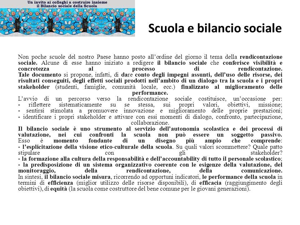 Scuola e bilancio sociale