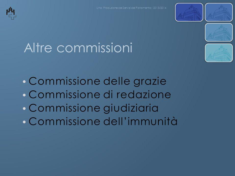 Altre commissioni Commissione delle grazie Commissione di redazione