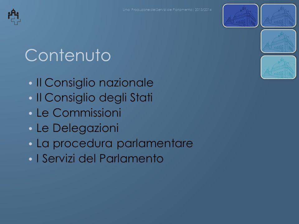 Contenuto Il Consiglio nazionale Il Consiglio degli Stati