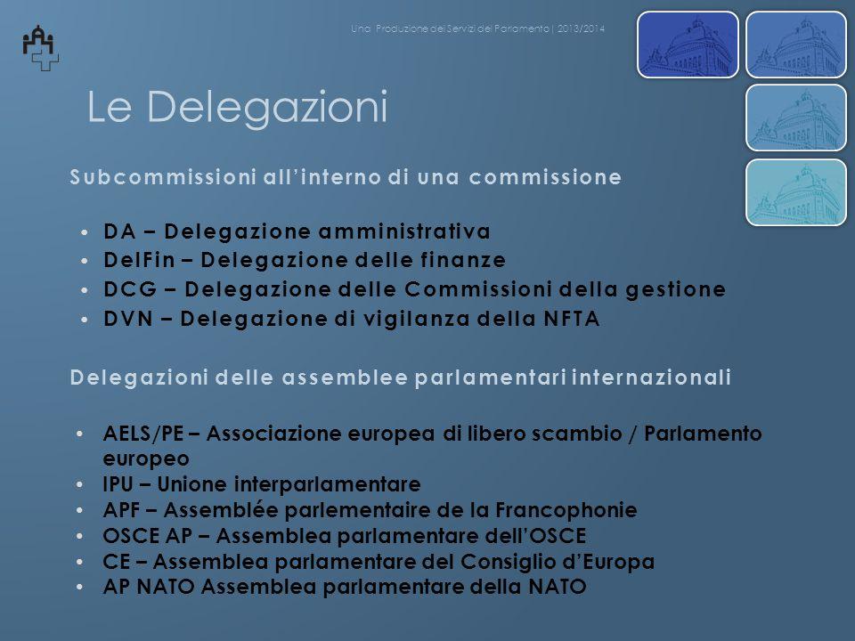 Le Delegazioni Subcommissioni all'interno di una commissione