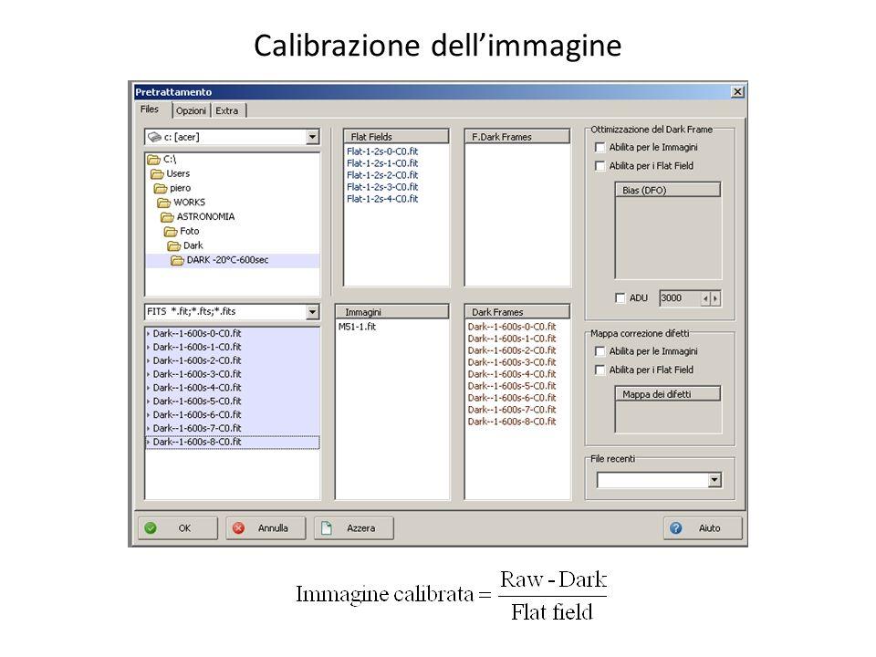 Calibrazione dell'immagine