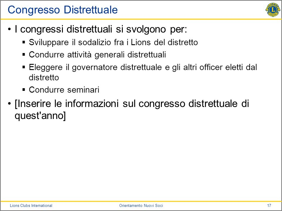 Congresso Distrettuale