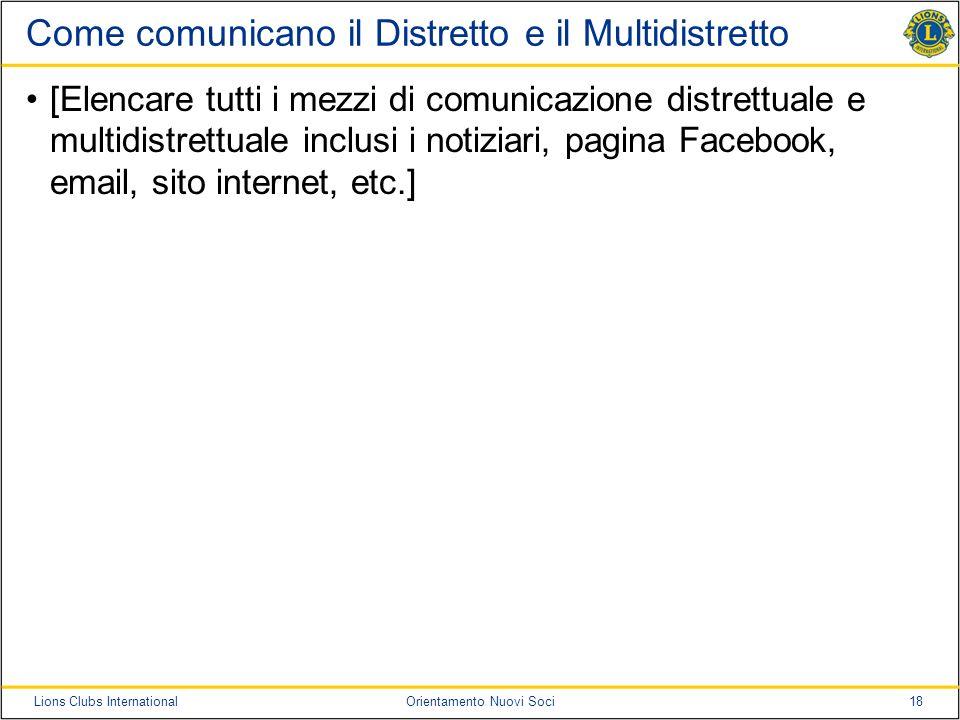 Come comunicano il Distretto e il Multidistretto
